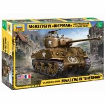 "Zvezda 3676 US Medium Tank M4A3(76)W ""Sherman"" (1:35)"