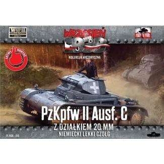 First to Fight PzKpfw II Ausf.C Niem.czołg z dział.20 mm (1:72)