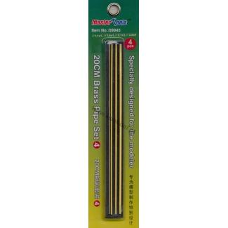 20 cm Brass Pipe Set.4 (1 x 1,1; 1 x 1,6; 1 x 2,1; 1 x 2,6)