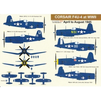 Corsair F4U-4 at WWII April to August 1945 (1:72)