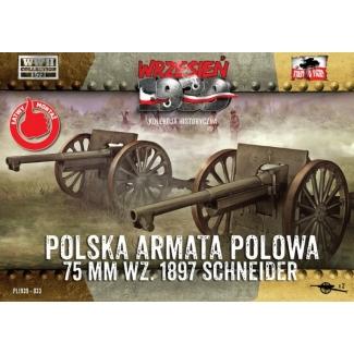 First to Fight Polska armata polowa 75 mm wz.1897 Schneider (1:72)