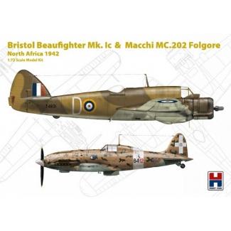 "Hobby 2000 72005 Bristol Beaufighter Mk.I c & Macchi MC.202 Folgore ""North Africa 1942"" - Limited Edition (1:72)"