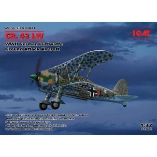 CR.42 LW,WWII German Luftwaffe Ground Attack Aircraft (1:32)