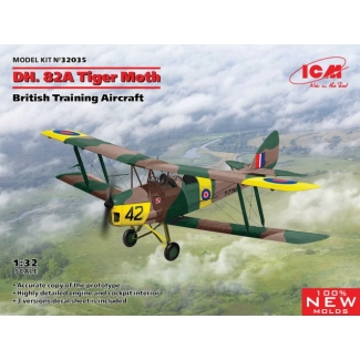 D.H.82A Tiger Moth, British Training Aircraft (1:32)