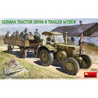 Lanz Bulldog D8506 Tractor w/ Trailer & Crew (1:35)