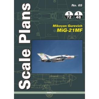 Scale Plans No.65 Mikoyan Gurevich MiG-21MF (1:72,1:48)