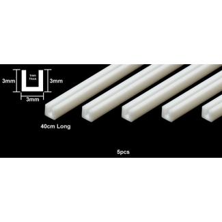 Ceownik Plastikowy 3 mm Biały (5 sztuk)