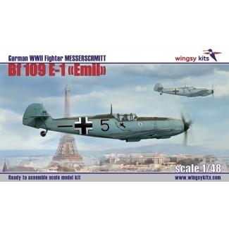German WWII Fighter Messerschmitt Bf 109 E-1 (1:48)